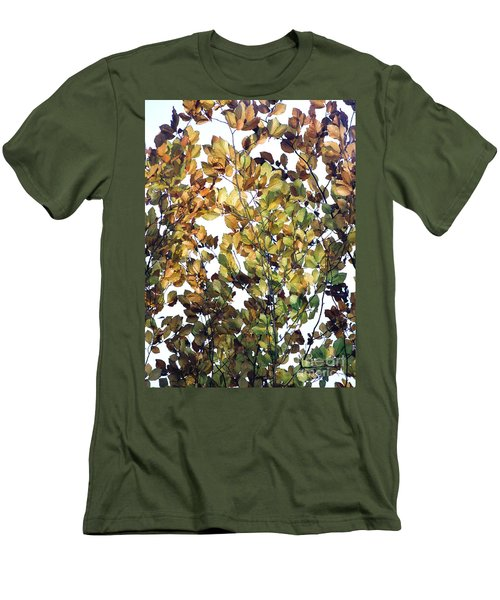 Men's T-Shirt (Slim Fit) featuring the photograph The Fall by Rebecca Harman