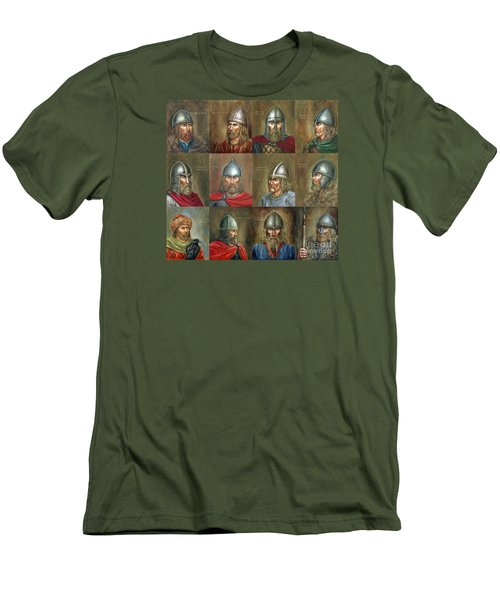 The Famous Vikings Men's T-Shirt (Slim Fit) by Arturas Slapsys