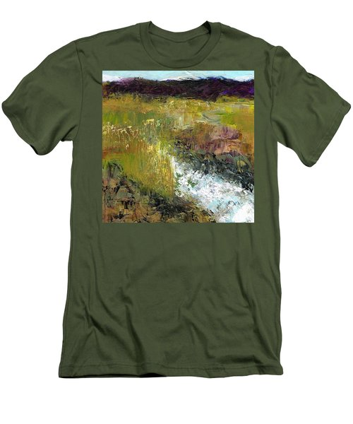 The Farmers Ditch Fall Men's T-Shirt (Slim Fit) by Frances Marino