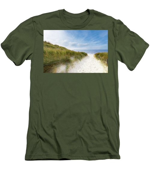 Men's T-Shirt (Slim Fit) featuring the photograph The First Look At The Sea by Hannes Cmarits