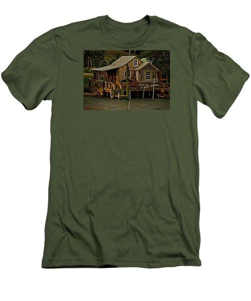 The Fishing Shack Men's T-Shirt (Slim Fit) by John Harding