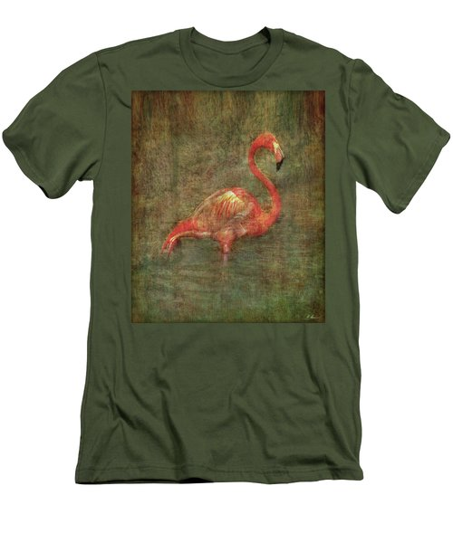 Men's T-Shirt (Athletic Fit) featuring the photograph The Flamingo by Hanny Heim