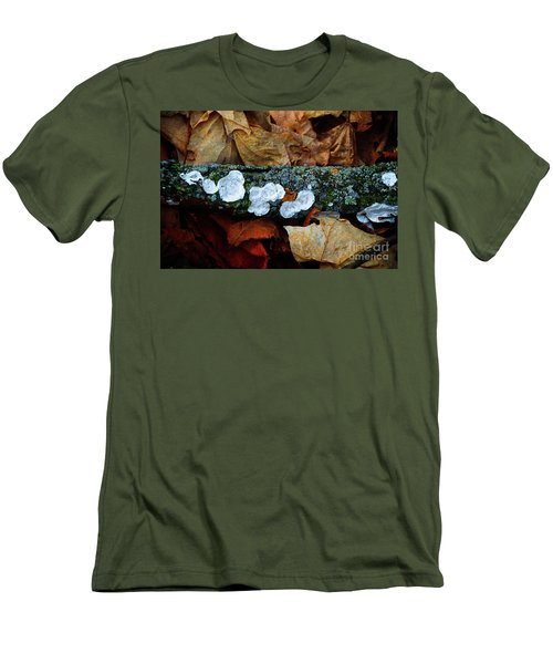 Men's T-Shirt (Slim Fit) featuring the photograph The Forest Floor - Cascade Wi by Mary Machare