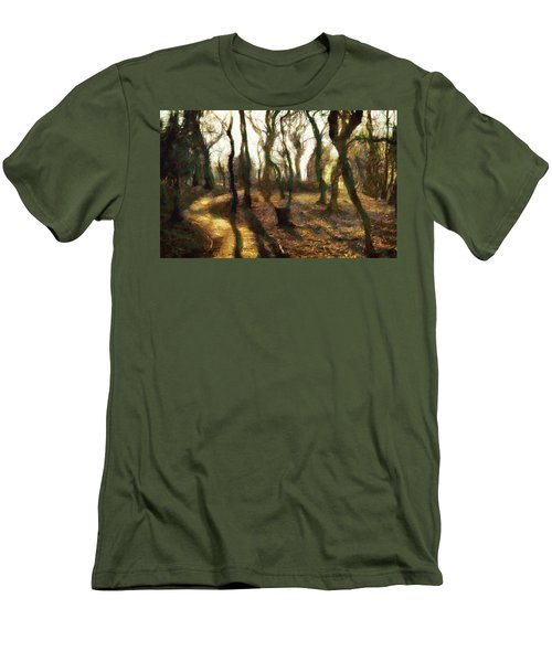 Men's T-Shirt (Slim Fit) featuring the digital art The Frightening Forest by Gun Legler