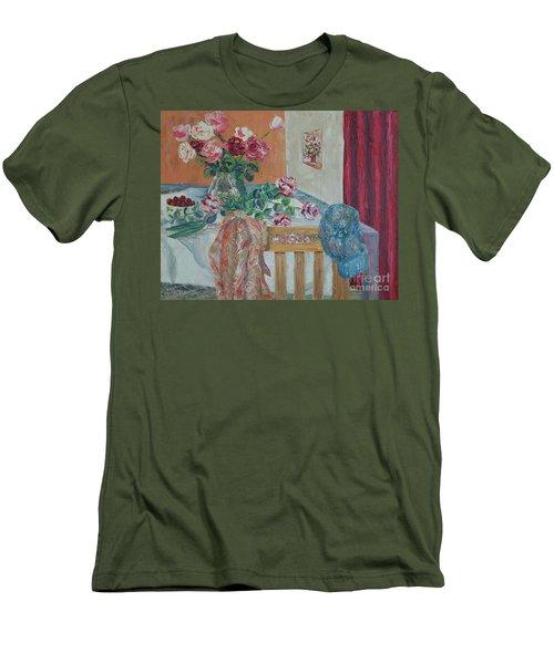 The Gardener's Table Men's T-Shirt (Slim Fit) by Judith Espinoza