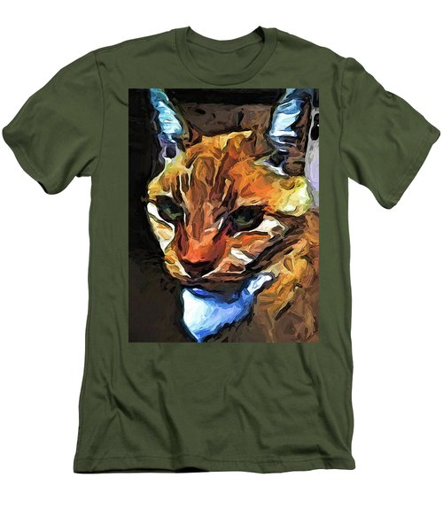 The Gaze Of The Gold Cat Men's T-Shirt (Athletic Fit)