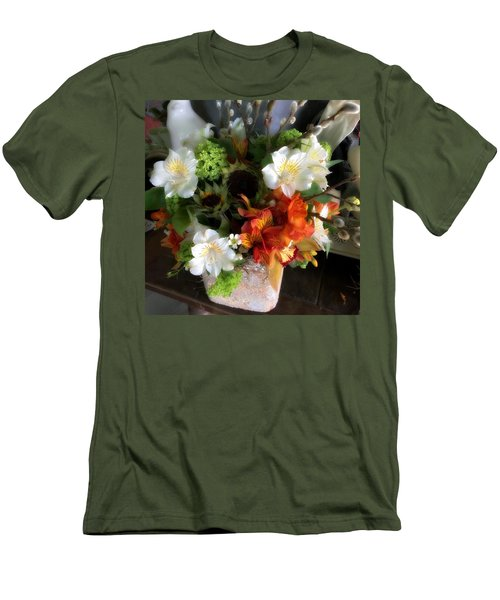 The Gift Of Giving Men's T-Shirt (Slim Fit) by Peggy Stokes