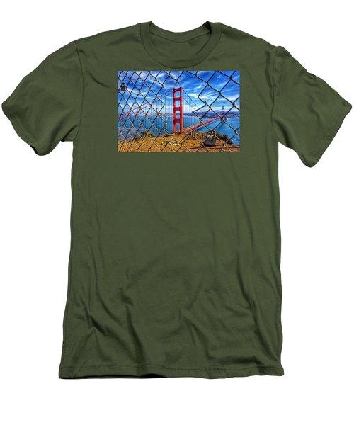 The Golden Gate Bridge  Men's T-Shirt (Slim Fit) by Alpha Wanderlust