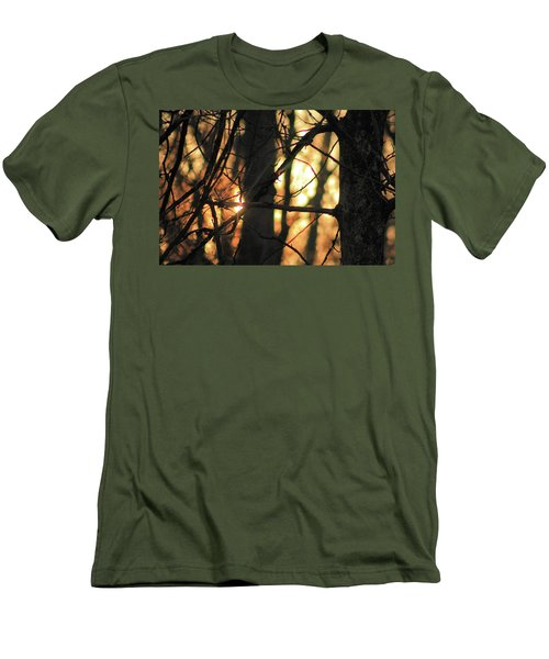 Men's T-Shirt (Athletic Fit) featuring the photograph The Golden Hour by Bruce Patrick Smith