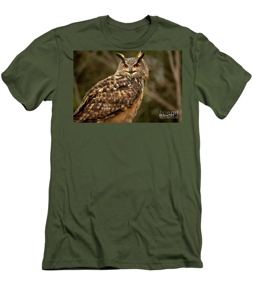 The Great Horned Owl Men's T-Shirt (Athletic Fit)