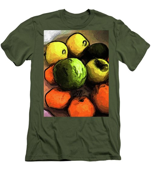The Green And Gold Apples With The Orange Mandarins Men's T-Shirt (Athletic Fit)