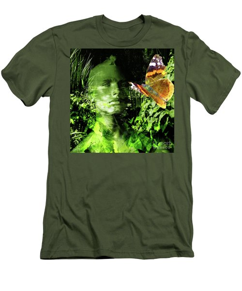 Men's T-Shirt (Athletic Fit) featuring the photograph The Green Man by LemonArt Photography