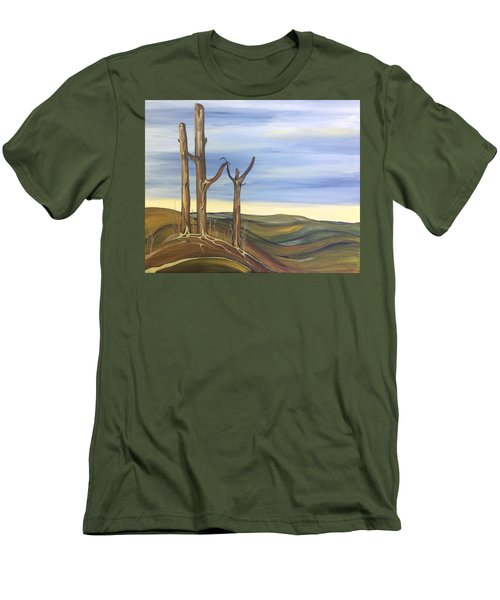 Men's T-Shirt (Slim Fit) featuring the painting The Guardians by Pat Purdy