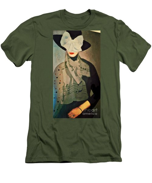 Men's T-Shirt (Slim Fit) featuring the digital art The Hat by Alexis Rotella