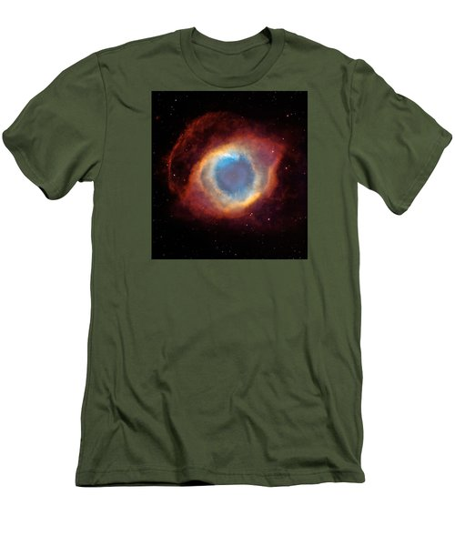 The Helix Nebula  Men's T-Shirt (Slim Fit) by Hubble Space Telescope