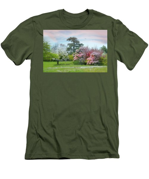 Men's T-Shirt (Slim Fit) featuring the photograph The Hidden Garden by Diana Angstadt
