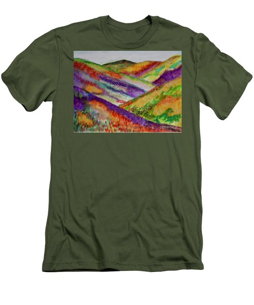 The Hills Are Alive Men's T-Shirt (Slim Fit) by Kim Nelson