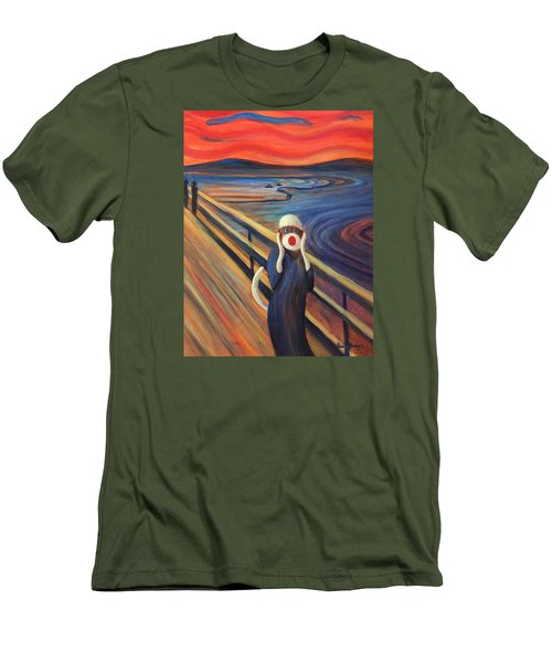 Men's T-Shirt (Slim Fit) featuring the painting The Holler by Randol Burns