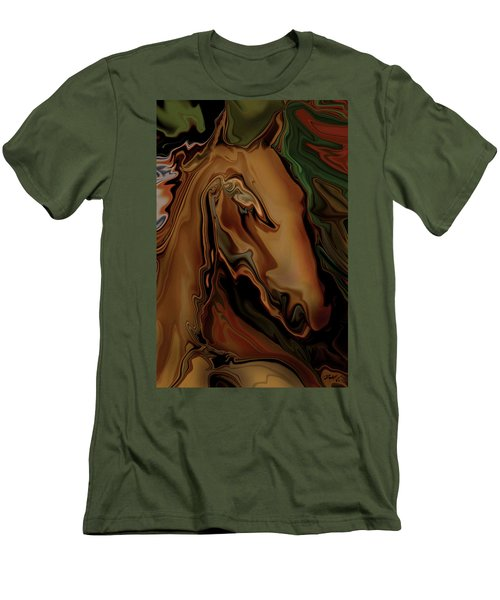 Men's T-Shirt (Slim Fit) featuring the digital art The Horse by Rabi Khan