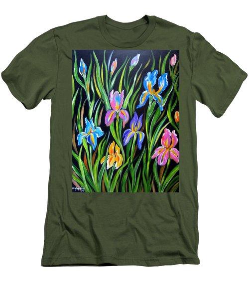 The Irises Men's T-Shirt (Athletic Fit)