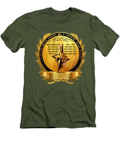 The Jones Family Crest Men's T-Shirt (Athletic Fit)