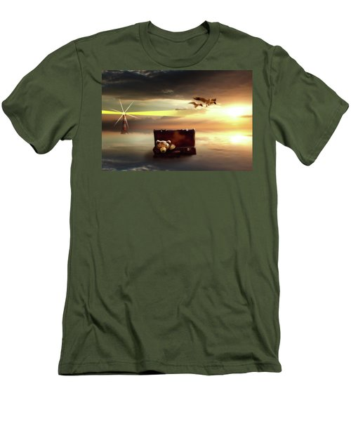 Men's T-Shirt (Slim Fit) featuring the digital art The Journey Begins  by Nathan Wright