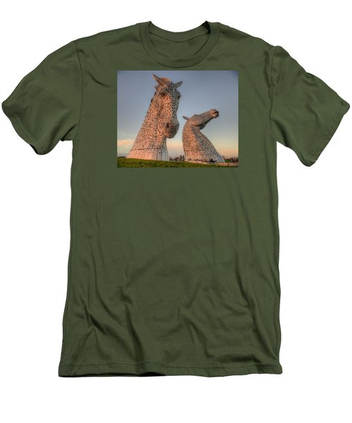 The Kelpies Men's T-Shirt (Slim Fit) by Ray Devlin
