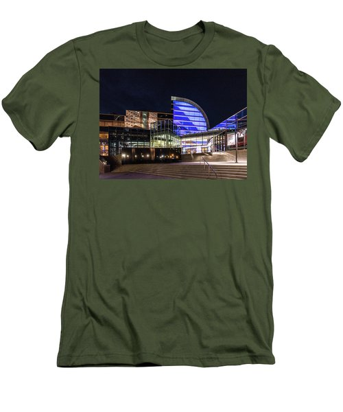 Men's T-Shirt (Athletic Fit) featuring the photograph The Kentucky Center For The Performing Arts by Randy Scherkenbach