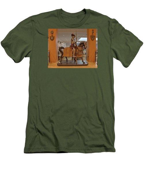 The Knight On Horseback Men's T-Shirt (Slim Fit) by Mark Dodd