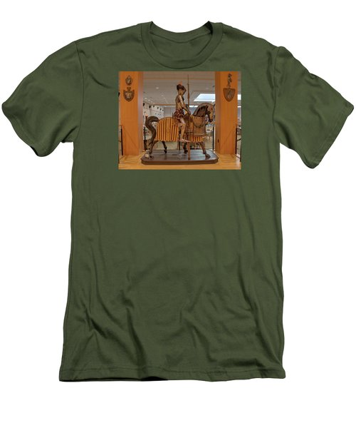 Men's T-Shirt (Athletic Fit) featuring the photograph The Knight On Horseback by Mark Dodd