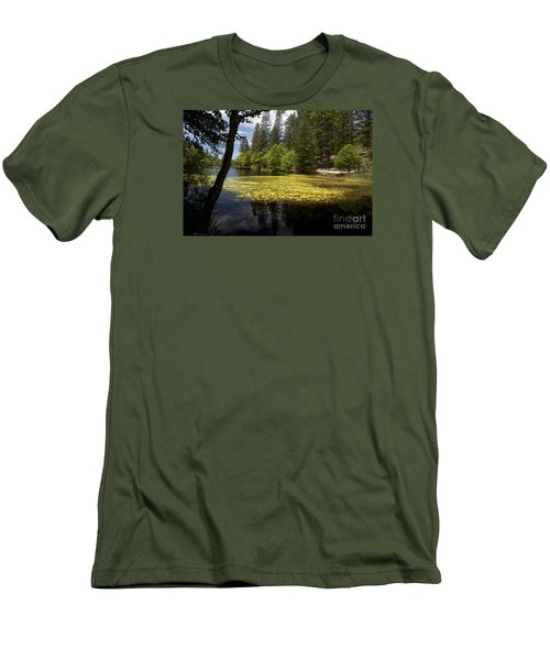 The Lake Fulmor Men's T-Shirt (Slim Fit) by Ivete Basso Photography