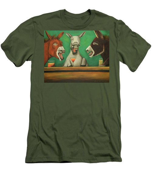 The Laughing Donkeys Men's T-Shirt (Slim Fit) by Leah Saulnier The Painting Maniac