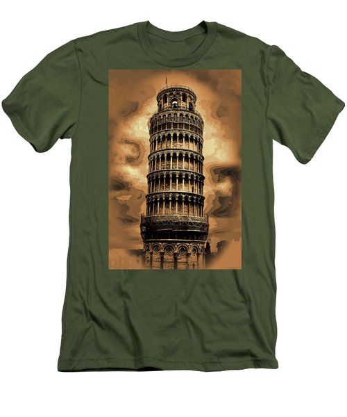 Men's T-Shirt (Slim Fit) featuring the photograph The Leaning Tower Of Pisa by Tom Prendergast