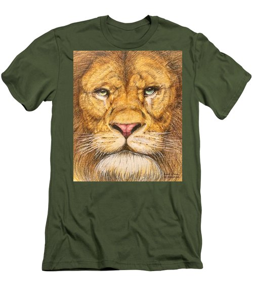 The Lion Roar Of Freedom Men's T-Shirt (Slim Fit) by Kent Chua