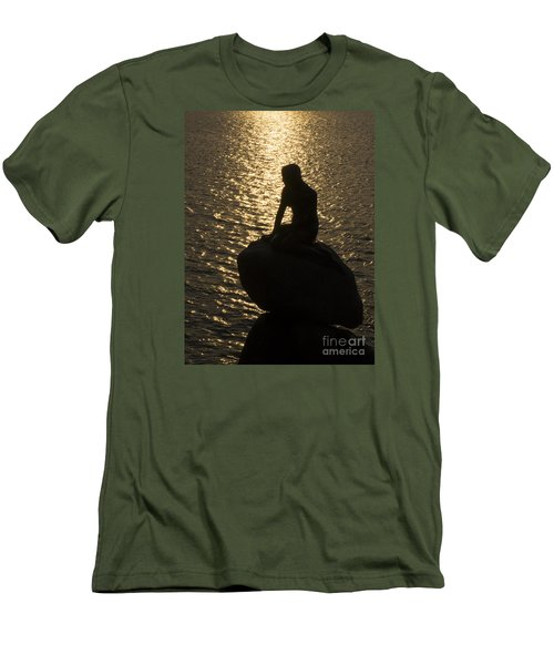 Men's T-Shirt (Slim Fit) featuring the photograph The Little Mermaid by Inge Riis McDonald