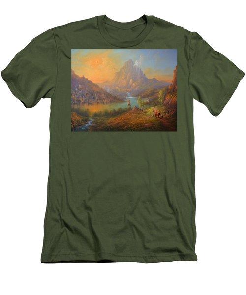 The Lonely Mountain Smaug Men's T-Shirt (Slim Fit) by Joe  Gilronan