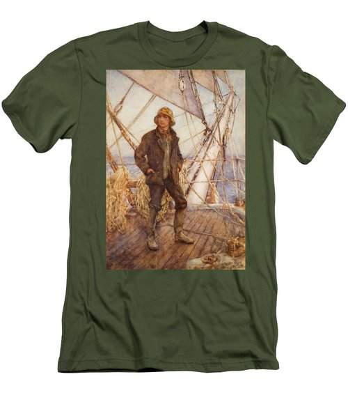 The Lookout Man  Men's T-Shirt (Slim Fit) by Henry Scott Tuke