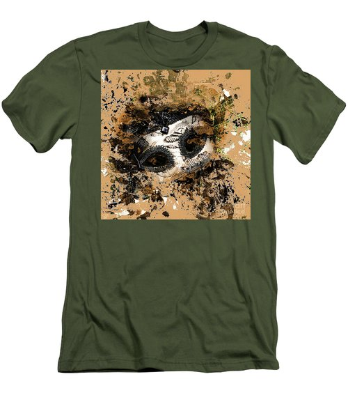 Men's T-Shirt (Athletic Fit) featuring the photograph The Mask Of Fiction by LemonArt Photography