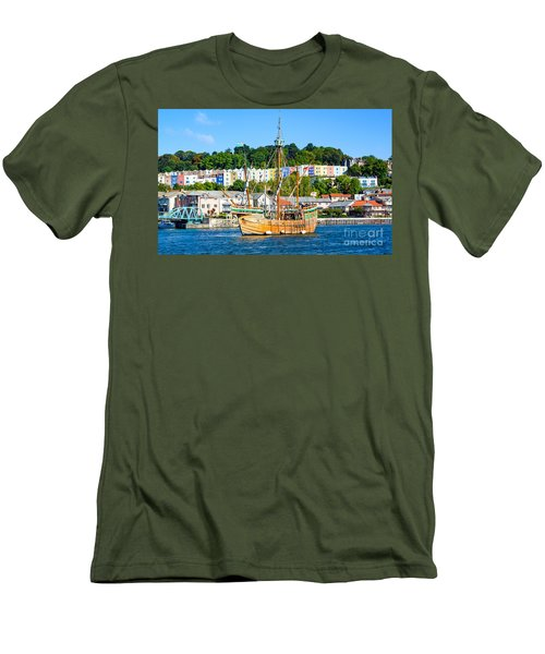 The Matthew In Bristol Harbour Men's T-Shirt (Slim Fit) by Colin Rayner