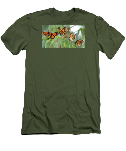 The Migration Of The Monarchs Men's T-Shirt (Athletic Fit)