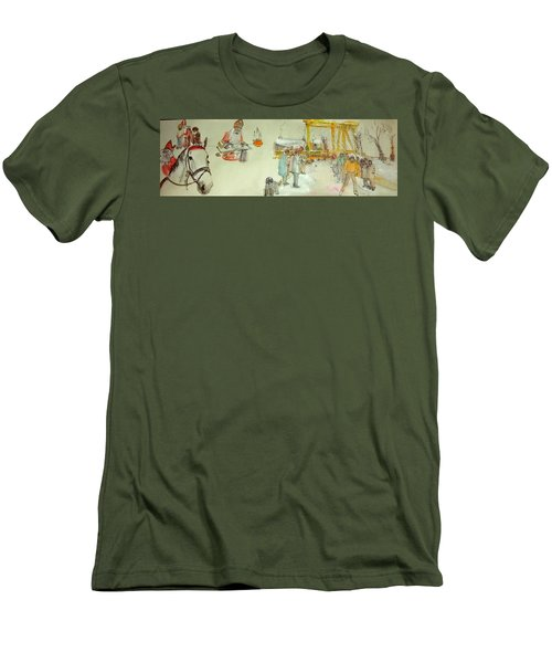 the Netherlands scroll Men's T-Shirt (Slim Fit) by Debbi Saccomanno Chan