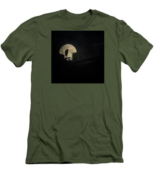 Men's T-Shirt (Slim Fit) featuring the photograph The Night Of The Heron by Chris Lord