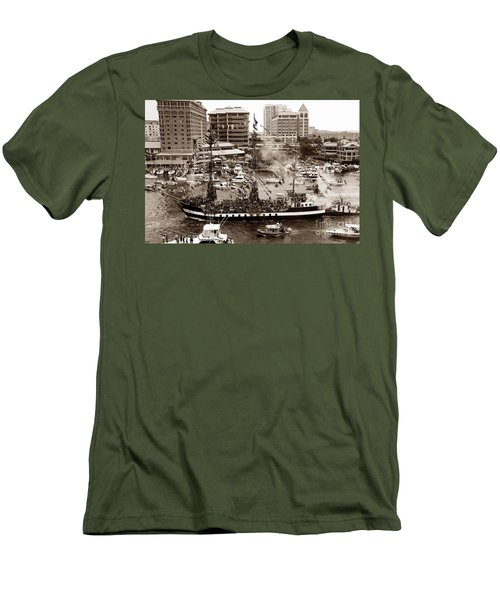 The Old Crew Of Gaspar Men's T-Shirt (Slim Fit) by David Lee Thompson