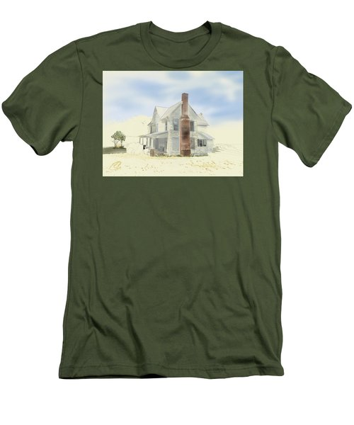 Men's T-Shirt (Athletic Fit) featuring the painting The Home Place - Silent Eyes by Joel Deutsch