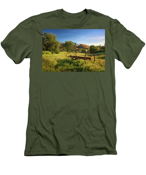The Old Mower 1 Men's T-Shirt (Slim Fit) by Endre Balogh