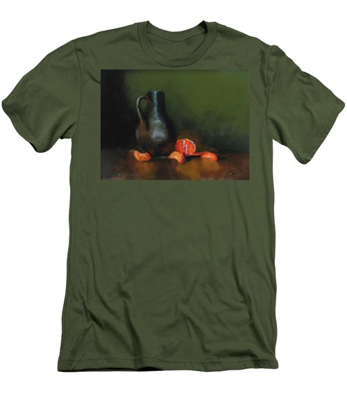 Men's T-Shirt (Slim Fit) featuring the painting The Old Stoneware Mug by Barry Williamson