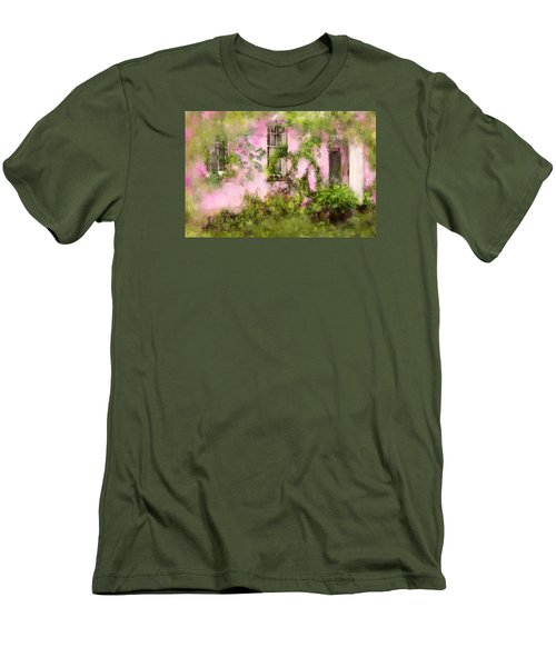 The Olde Pink House In Savannah Georgia Men's T-Shirt (Slim Fit) by Carla Parris
