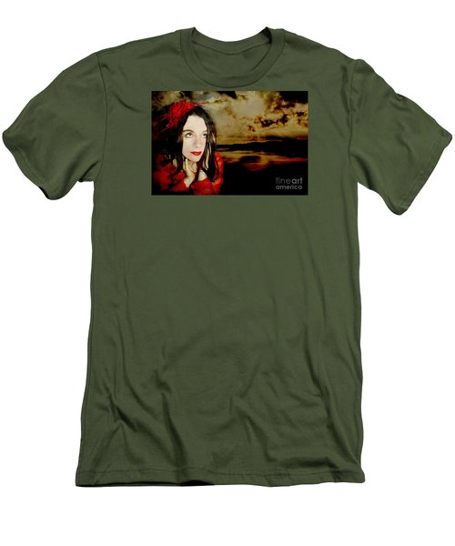 Men's T-Shirt (Slim Fit) featuring the photograph The Opioid Called Optimism by Heather King