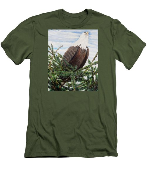 Men's T-Shirt (Slim Fit) featuring the painting The Oversee'er by Marilyn  McNish