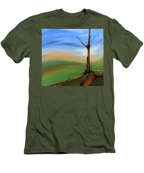 Men's T-Shirt (Slim Fit) featuring the painting The Painted Sky by Pat Purdy